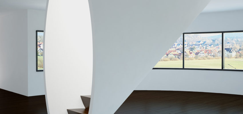 Индивидуальная бетонная монолитная лестница компании «StairsSPB»